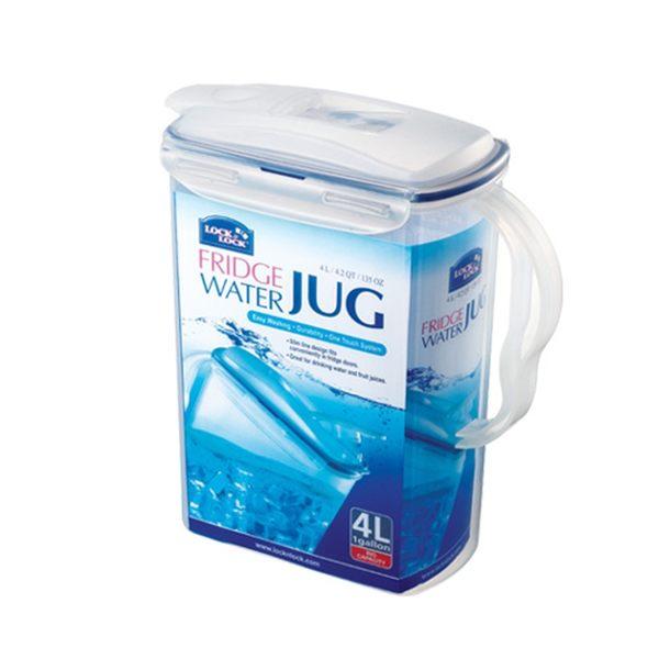 樂扣樂扣兩用冷水壺大容量4L果汁壺環扣上蓋HPL738-大廚師百貨