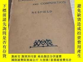 二手書博民逛書店MANUAL罕見OF ENGLISH GRAMMAR AND COMPOSITION NESFIELDY141