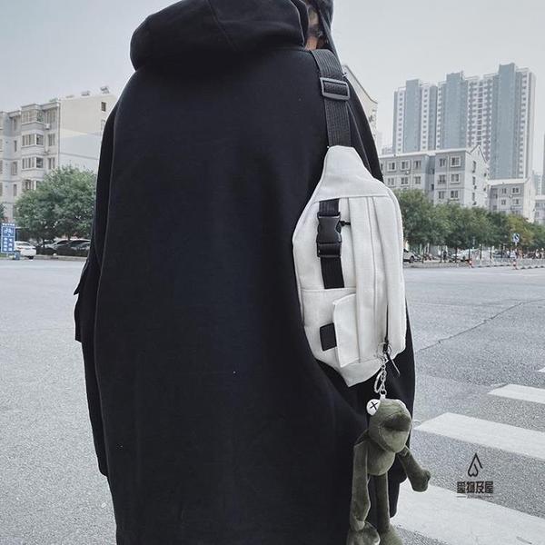 胸包男小包休閒側背斜背包日系腰包【愛物及屋】