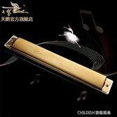 口琴24孔c調復音鐳射成人兒童初學入門口琴比賽演奏專業樂器 童趣潮品