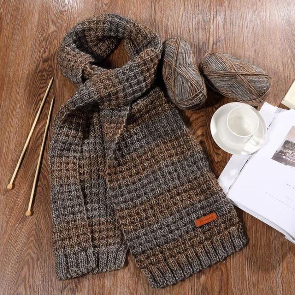 毛線團 圍脖手工編織diy材料包圍巾毛線男士織圍巾【極簡生活館】