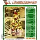 台灣現貨 2.1米聖誕樹家用裝飾網鬆針ins套餐粉色仿真擺件大型發光