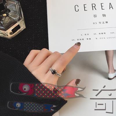 店長推薦925銀飾緊箍咒戒指女日韓國潮人開口關節食指環簡約學生飾品【奇貨居】