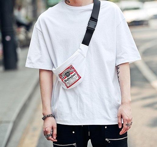 FINDSENSE H1夏季 新款 韓國 街頭 背後印花 時尚 寬鬆  個性短袖