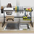 【居家cheaper】85CM雙槽款流理台瀝水置物架/廚房架/餐具瀝水架/餐具收納/砧板架/鍋蓋架/碗筷架