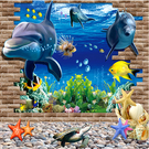 3d立體牆貼自黏牆紙兒童房牆壁貼畫男女孩臥室房間床頭裝飾貼紙畫WY 快速出貨