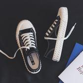 餅干帆布鞋女鞋潮鞋新款秋鞋韓版板鞋百搭布鞋貝殼鞋小黑鞋子
