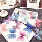 新款彩色蝴蝶,5公分薄紗材質 (不含黑色夾)