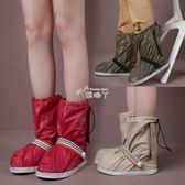 雨鞋 防雨鞋套防滑加厚耐磨便攜成人女防水腳套男士戶外雨天旅行高筒 俏腳丫