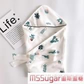 初生嬰兒抱被夏季薄款純棉針織棉新生兒包被寶寶包巾產房裹布