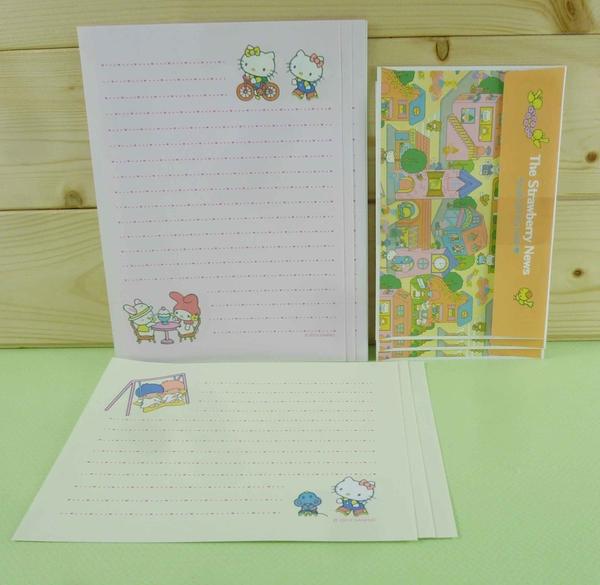 【震撼精品百貨】Hello Kitty 凱蒂貓~信紙組~橘色