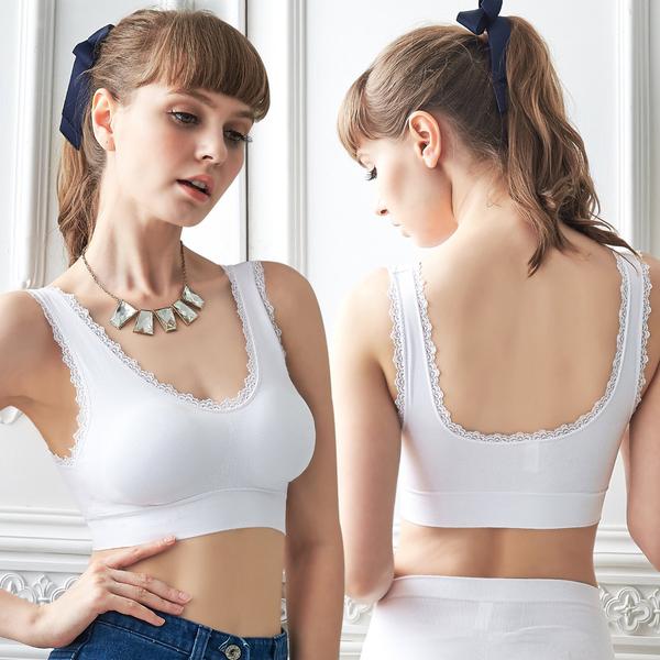 運動內衣。無鋼圈(M-XL)活動襯墊 曲線美胸睡眠居家BraT_12件組【Daima黛瑪】