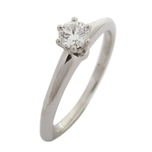 Tiffany & Co 蒂芬妮 Tiffany® Setting 0.24CT PT950鉑金鑽戒【二手名牌 BRAND OFF】