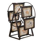 家居裝飾品摩天輪5寸風車相框擺臺臥室工藝禮品擺件PL123【男人與流行】