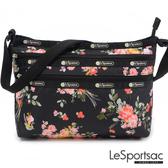 LeSportsac - Standard橫式三層拉鍊斜背包(玫瑰園) 3352P F632