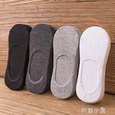 船襪男夏季純棉淺口隱形襪子男士硅膠防滑防臭低幫夏天薄款潮短襪      芊惠衣屋