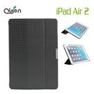 OBIEN iPad Air 2高級保護套(黑色三角紋)專利導音設計