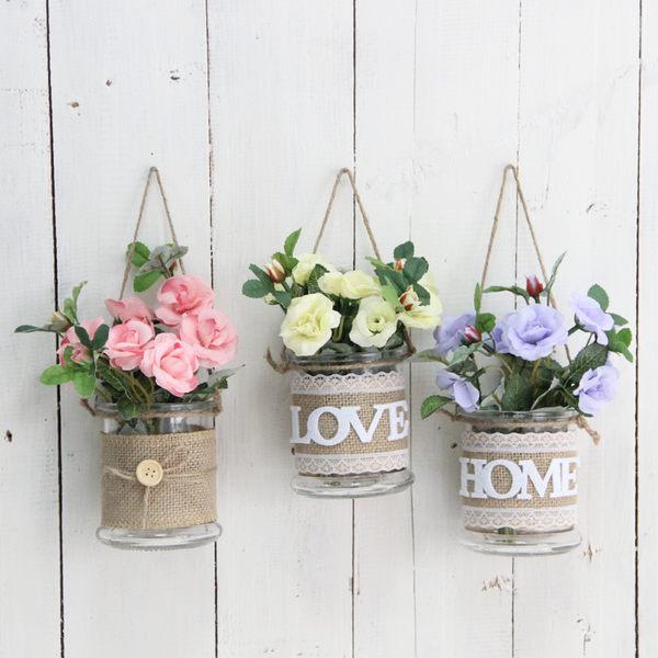 牆飾掛飾壁飾壁掛花瓶創意家居裝飾品客廳牆壁牆面牆上花盆工藝品 喵小姐