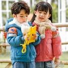 兒童羽絨外套兒童羽絨服男童女童加厚卡通短款中小童寶寶洋氣連帽外 快速出貨