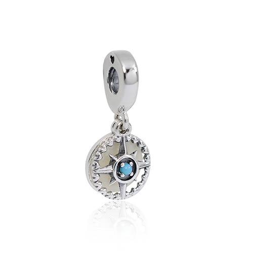 Pandora 潘朵拉 愛心指南針 垂墜純銀墜飾 串珠
