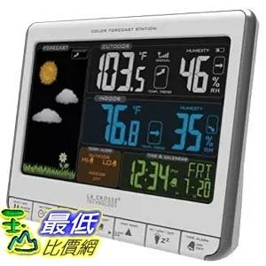 [美國直購] La Crosse Technology 308-1412S 室內戶外天氣觀測 溫度濕度計 Color LCD Wireless Weather Station