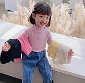 女童装 童裝長袖t恤女童高領打底衫兒童洋氣上衣中小童套頭2020秋裝新款【快速出貨八折搶購】