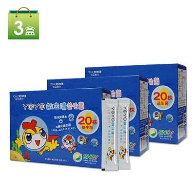 【悠活原力】YOYO敏立清益生菌-多多口味3盒組(60條/盒)