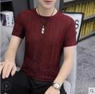 冰絲冰感2021新款男士短袖t恤透氣速乾上衣潮流潮牌薄款男裝半袖 百分百