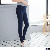 OB嚴選《BA2123-》水洗美臀設計仿牛仔鬆緊窄管褲‧2色--適 S~XL