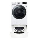 (送陶板屋餐卷4張)回函贈 LG樂金17公斤滾筒蒸洗脫烘白色+2.5公斤溫水下層洗衣機WD-S17VBD+WT-D250HW