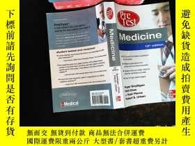 二手書博民逛書店Medicine罕見PreTest Self-Assessment and Review, Thirteenth