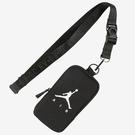 NIKE JORDAN JUMPMAN 卡包 手機包 錢包 胸包 鑰匙包 喬丹 飛人 黑【運動世界】JD2023010GS-001