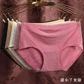 【條裝】內褲女中腰無痕冰絲透氣性感棉質檔蕾絲三角短褲女 XW307【潘小丫女鞋】