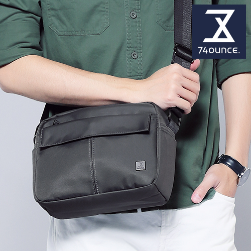 74盎司 U系列 單層雙口袋側背包[G-1041-U-M]