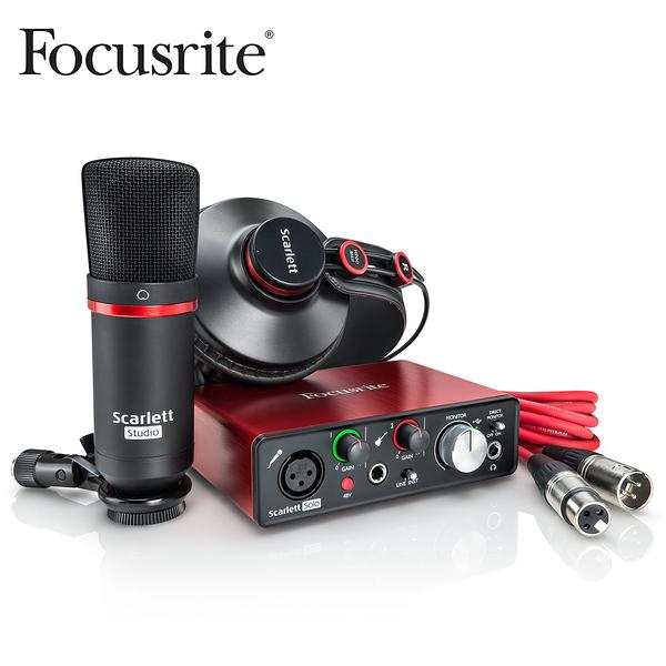 小叮噹的店- 錄音套組 Focusrite Scarlett Solo 第2代 2nd Gen  含麥克風耳機