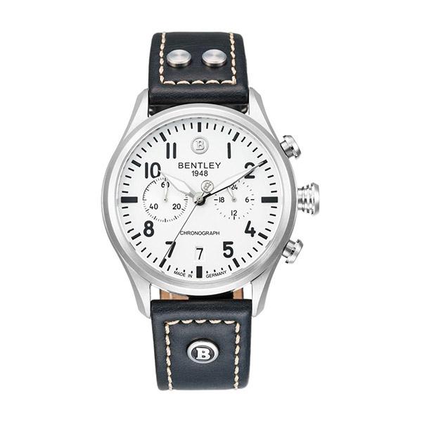新品上市 ◢BENTLEY 賓利◣三眼計時石英錶  日本機芯 德國製BL1684-30WWB