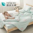#HT017#絲柔親膚奧地利TENCEL天絲3.5尺單人床包+枕套+雙人舖棉兩用被三件組-台灣製(限2組超取)