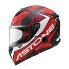 【東門城】ASTONE GTB800 AO11(平光黑/紅) 全罩式安全帽