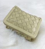 【雪曼國際精品】BV  BVTTEGA VENETA羊皮手編織系列化妝包零錢包珠寶收納款~二手商品(9.成新)