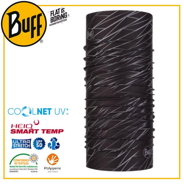 【BUFF 西班牙 Coolnet 抗UV頭巾 黑暗流線】119346/圍脖/帽子/口罩/圍巾/吸溼排汗
