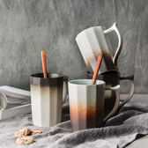 全館79折-創意個性磨砂景德鎮手工復古陶瓷帶把手馬克杯辦公室茶杯杯子