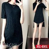 中大尺碼 重金屬流蘇鍊條不規則連衣裙 XL-5XL O-ker歐珂兒 16902-C