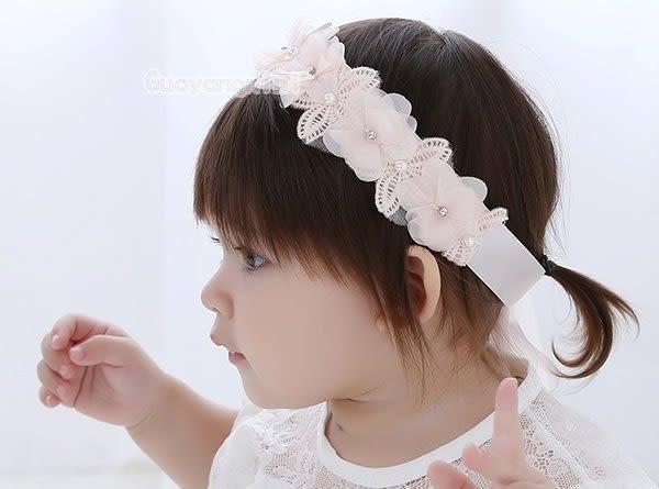 髮帶 韓國款氣質珍珠水鑽 寶寶 嬰兒 髮帶  頭帶 送禮 搭配禮服 婚禮 拍照【 P3925】
