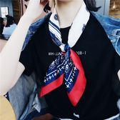 ins小方巾女韓國百搭文藝裝飾絲巾復古腰果夏季領巾職業圍巾chic 時尚芭莎鞋櫃