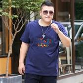 大碼新款潮胖全棉大碼圓領體恤打底衫 夏季男短袖T恤韓版寬鬆半袖背心