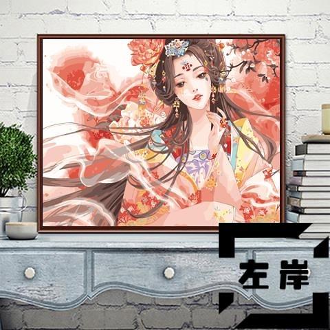 diy數字油畫掛畫減壓手工數碼手繪填色油彩畫裝飾畫【左岸男裝】
