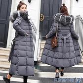 冬季加厚東北大棉襖女裝過膝中長超長款修身反季特賣羽絨棉服外套 快速出貨