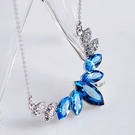 925純銀項鍊 水晶銀飾墜子-奢華高貴母親節生日禮物女飾品4色73aj454【時尚巴黎】