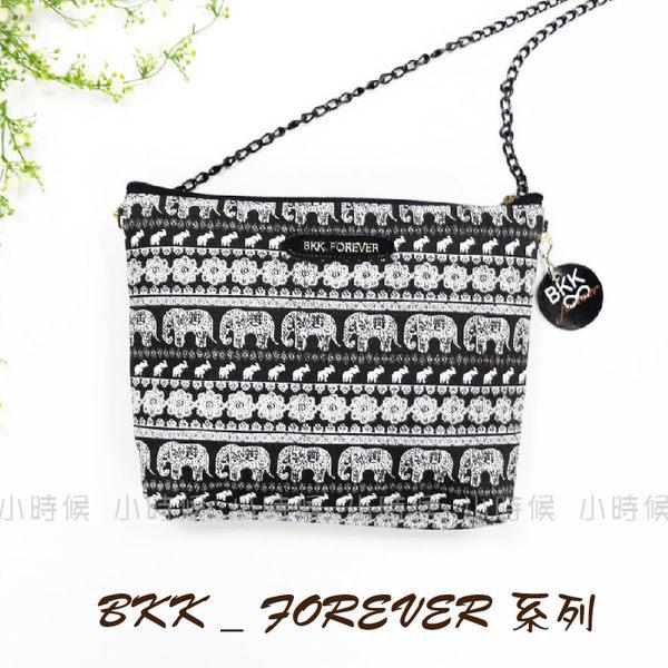 ☆小時候創意屋☆ 泰國 百貨 曼谷包 黑大象 BKK FOREVER 夜店晚宴包 手機包 收納包 BKK包 側背包