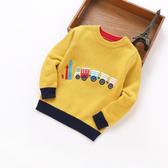 秋款兒童純棉毛衣小男孩圓領針織衫男童寶寶低領套頭棉線衫打底衫-ifashion